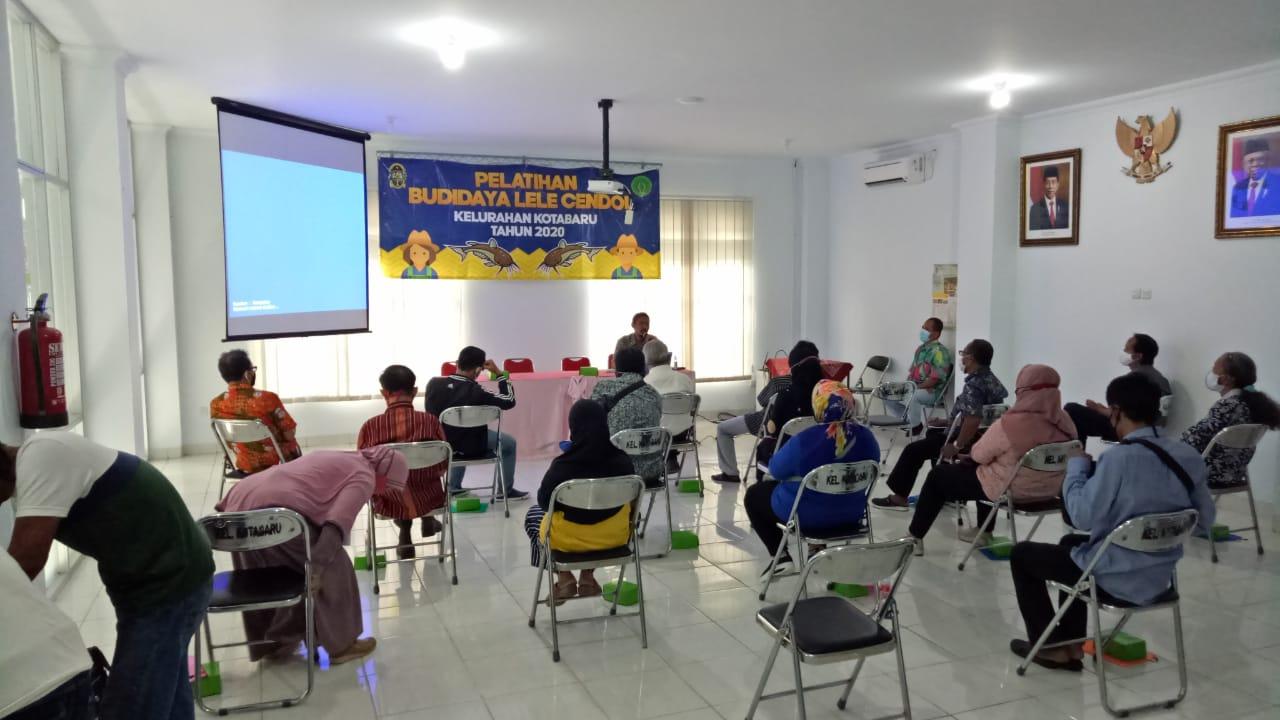 Pelatihan lele Cendol Kelurahan Kotabaru