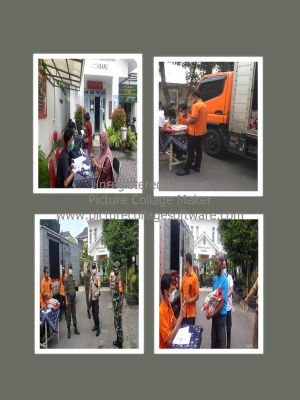 PT. Pos Indonesia mendistribusikan bantuan untuk Warga Masyarakat Kelurahan Kotabaru