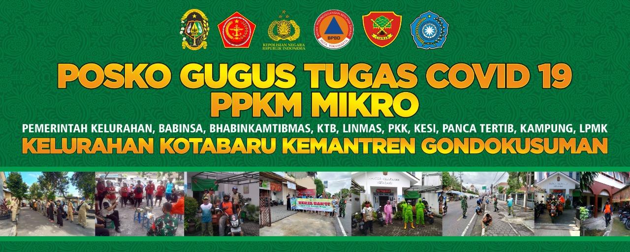 Posko PPKM Skala Mikro Covid-19 Kelurahan Kotabaru