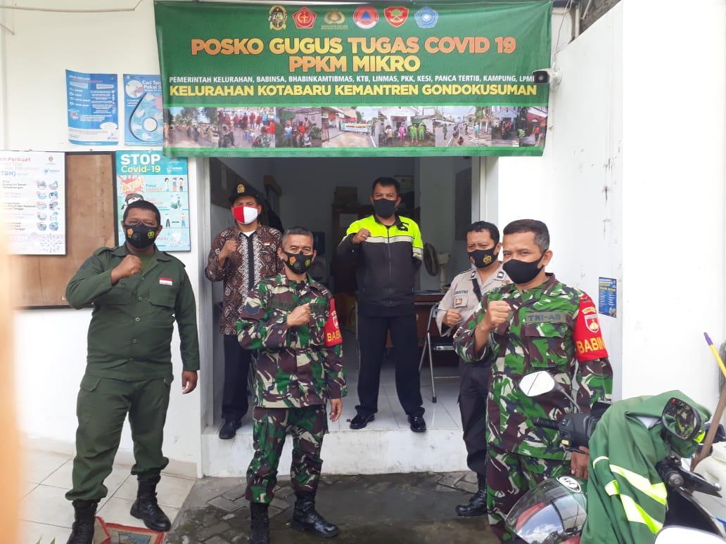 Pembentukan Posko PPKM Skala Mikro Covid-19 di Kelurahan Kotabaru